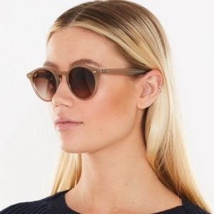 Ray Ban Womens Light Tan Round Sunglasses RB2180